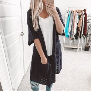 Anthropologie Guinevere Open Front Knit Cardigan